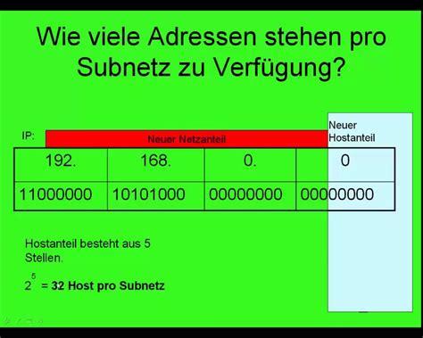 A Berechnen by Subnetting Die Berechnung Subnetzen Einfach Erkl 228 Rt
