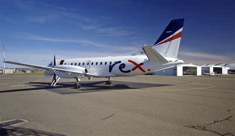 Rex Vh-zre Saab 340b (plus) At Wagga Wagga Airport