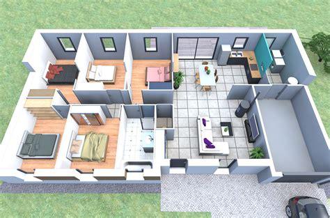 plans maisons plain pied 3 chambres plan de maison plain pied 5 chambres