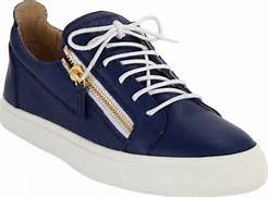 Giuseppe Zanotti Zip Low-Top Sneaker in Blue for Men   Lyst  Giuseppe Zanotti Sneakers Blue
