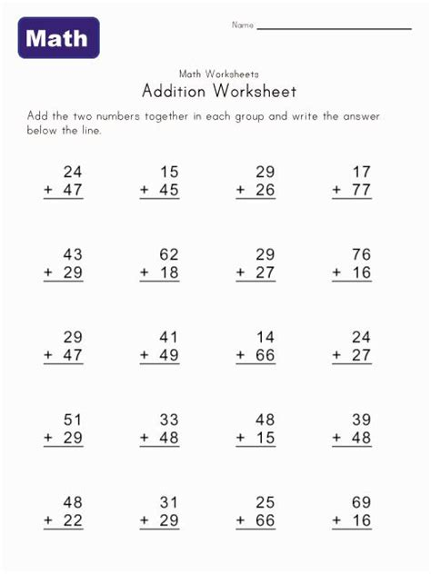addition worksheet with carrying 1 free worksheets