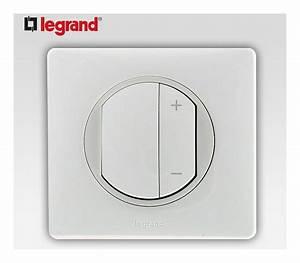 interrupteur variateur 400w legrand celiane blanc complet With carrelage adhesif salle de bain avec eclairage exterieur led legrand