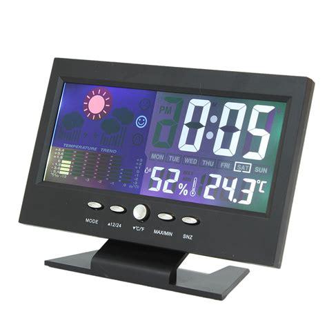color lcd screen calendar digital clock car thermometer