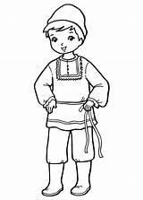 Coloring Boy Costume National Pages Around sketch template