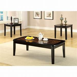 furniture of america benziley 3 piece coffee table set in With 3 piece coffee table set black