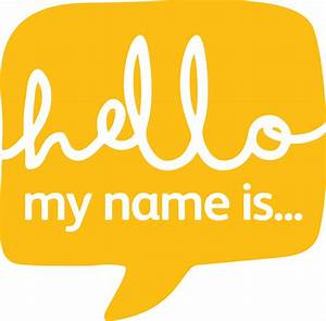 Hello! clipart my name is - Pencil and in color hello ...