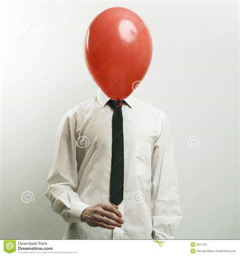 ballon bureau portret bureaumanager met hoofd ballon stock foto 39 s