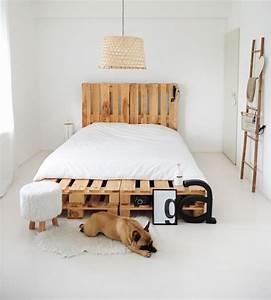 Echelle Decorative Blanche : 1001 mod les pour une t te de lit en palette de bois diy ~ Teatrodelosmanantiales.com Idées de Décoration