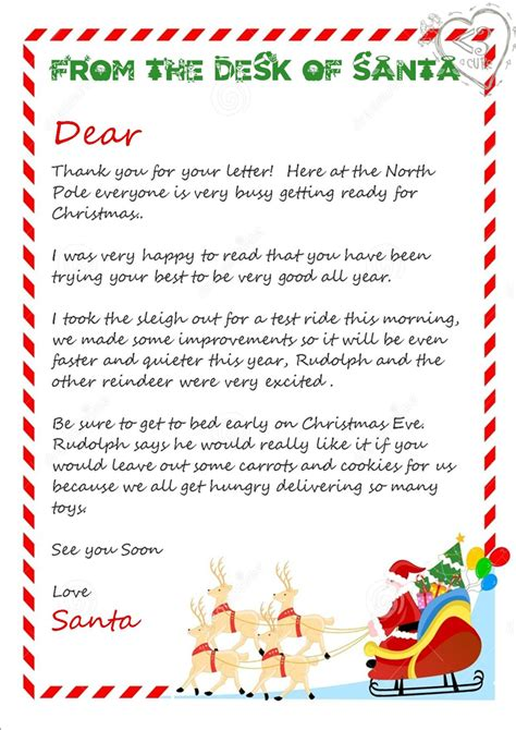 piece printable christmas letter  santa love