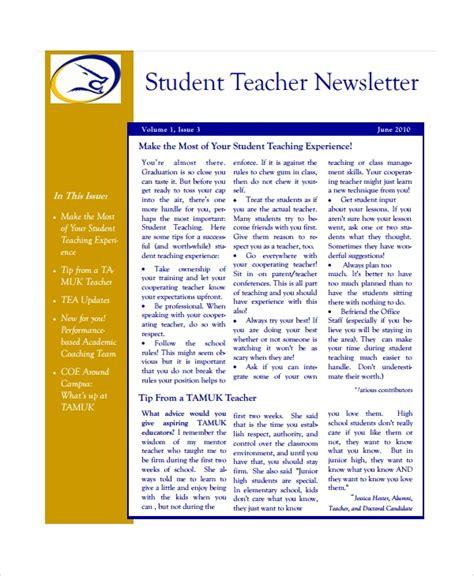 teacher newsletter templates sample templates