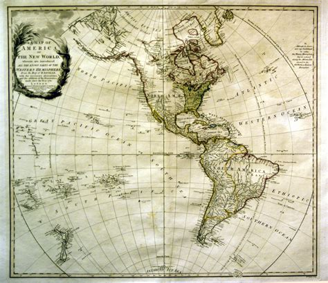Jonathan Potter Map  A Map Of North America Or The New World