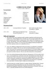 best resume cv exles writing curriculum vitae aideenleacy