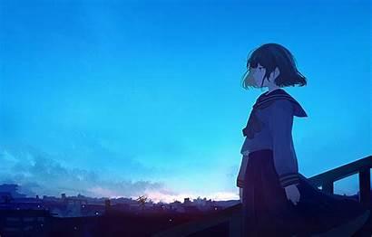 Anime Waifu Manga Looking Director Distance Sky