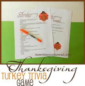 Thanksgiving Turkey Trivia Game