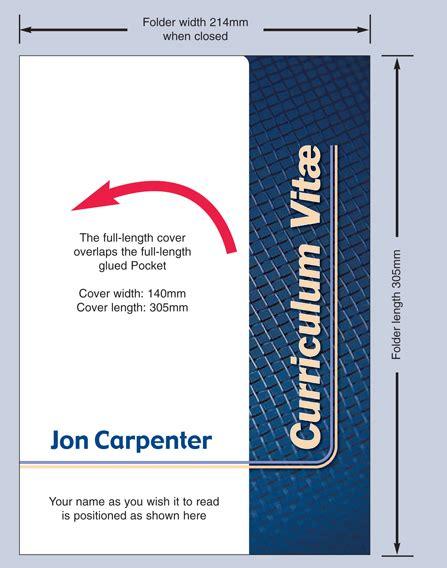 technical information cv presentation folders career
