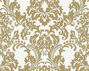 Wallpaper paintable baroque white gold Architects Paper ...