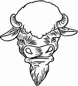 Coloring Buffalo Wild Wings Bison Unique Head источник Uploaded sketch template