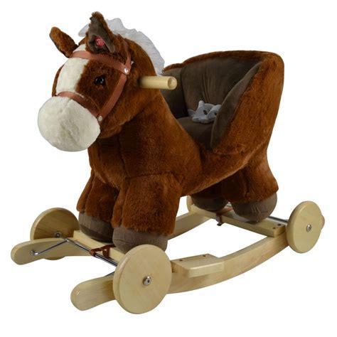 BABYTOWN.LV - Bērnu veikals - Šūpuļzirdziņš ar riteņiem Zirgs