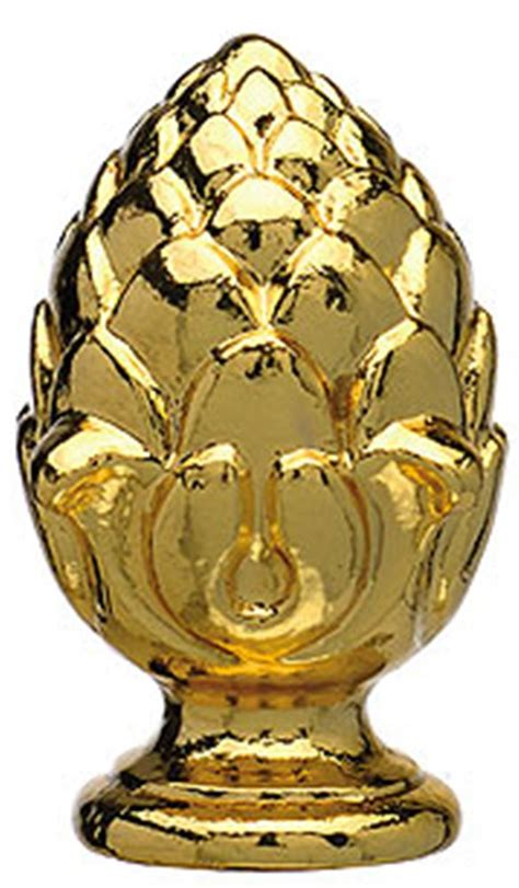 Brass Pineapple L Finials by Brass Pineapple L Shade Finial 1 4 Quot H L Shade Pro