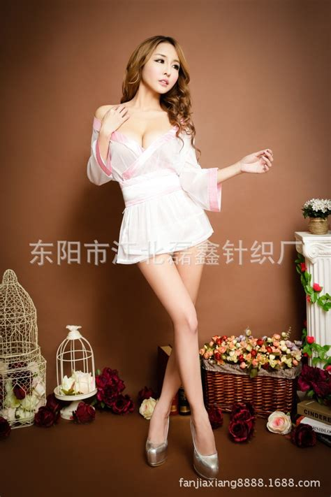 Low Cut Negligee And Robe Japanese Kimono Sexy Lingerie