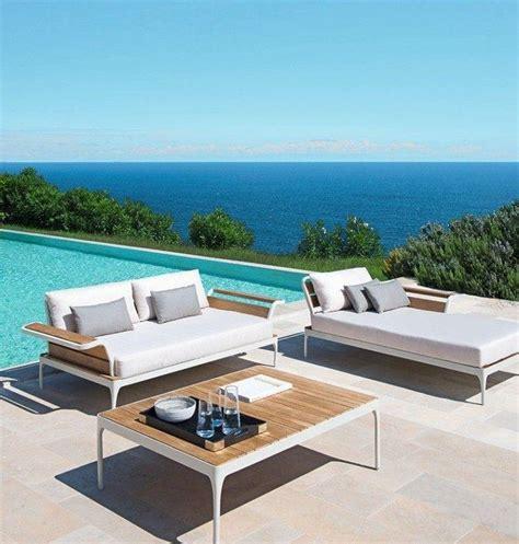 canapé teck jardin salon de jardin moderne 7 collections exclusives par ethimo