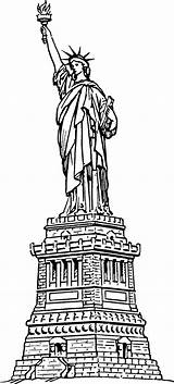 Liberty Statue Coloring Pages sketch template