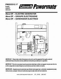 Coleman Vertex 7500 Generator Wiring Diagram