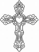 Cross Coloring Ornate Rocks Bible Jesus Supper Salvation Simple sketch template