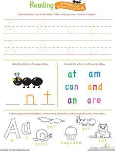 kindergarten english worksheets images