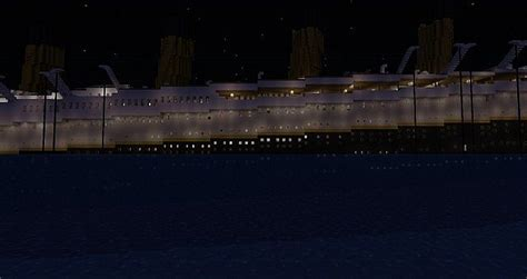 rms titanic sinking at 1 45 am minecraft project
