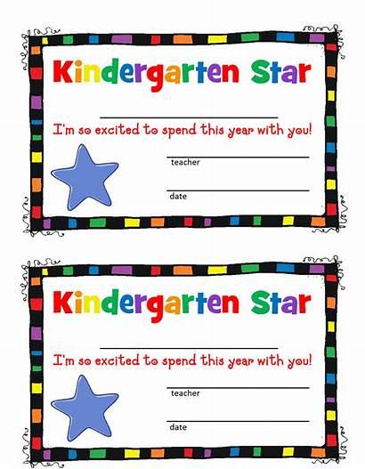 Kindergarten Preschool Certificate Border Borders Clipart Clip