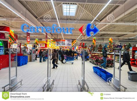 hypermarket carrefour grand opening editorial stock image image  happy mall