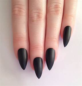 Matte black stiletto nails Nail designs Nail by ...