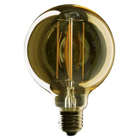 globe light bulbs eton 2 watt es e27mm vintage g95mm led filament globe bulb