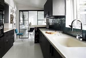 duplex parisien deco retro parquet blanc laque charpente With parquet blanc laqué