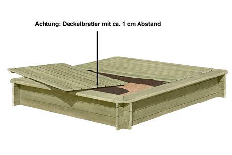 sandkasten aus holz mit abdeckung sandkasten stabil aus holz 30 mm mit deckel