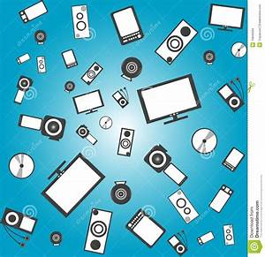Seamless Electronic Products Background Royalty Free Stock ...