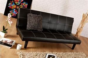 Single faux leather sofa bed in black spencer sofabed for Spencer sofa bed