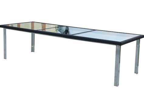 rectangular patio dining table suncoast avenir wicker 110 x 40 rectangular glass dining