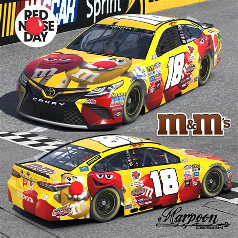 2017 Kyle Busch M&m Red Nose Day Camry By Brantley Roden