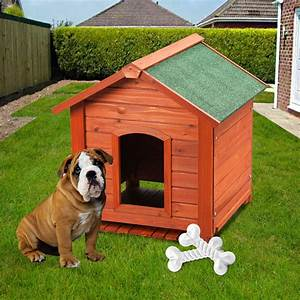 Large wooden dog kennel pet house indoor outdoor animal for Outside covered dog kennels