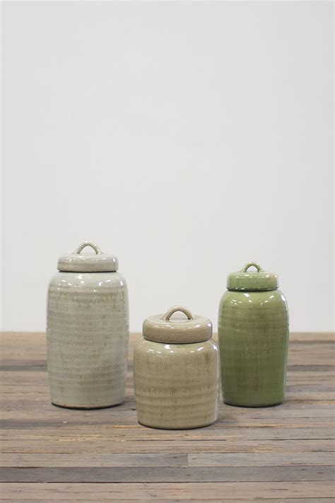 Set   Ceramic Canisters