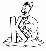 Kangaroo Coloring Printable Animal Animalplace sketch template