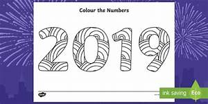 Colour The Numbers New Year 2019 Mindfulness Colouring