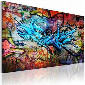 Gemalte Bilder Auf Leinwand : leinwand bilder xxl fertig aufgespannt bild graffiti ~ A.2002-acura-tl-radio.info Haus und Dekorationen
