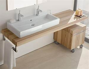 meuble double vasque de design moderne en 60 exemples With salle de bain design avec plan vasque suspendu design