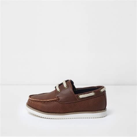 Boys Brown Boat Shoes by Mini Boys Brown Lace Up Boat Shoes Baby Boys Shoes