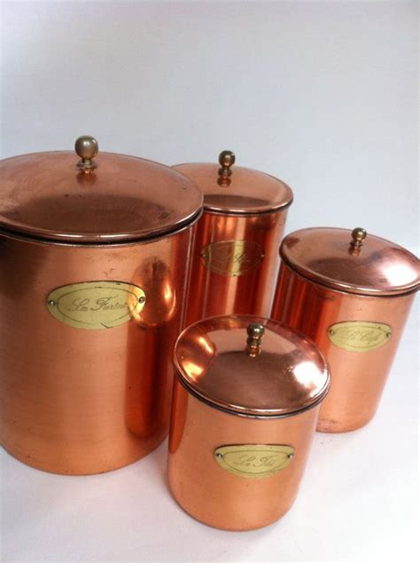 copper kitchen canisters copper canister set labels canister sets