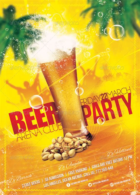 beer party poster flyer template  sluap graphicriver