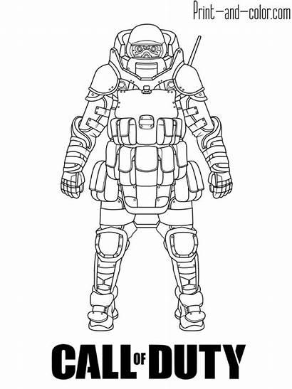 Duty Call Coloring Juggernaut Warfare Printable War